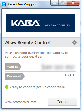 kaba remote control quick technical support