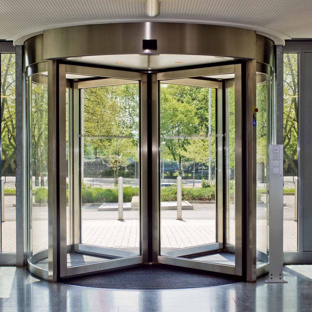 Ktv Secure Revolving Door System Low Energy High Security