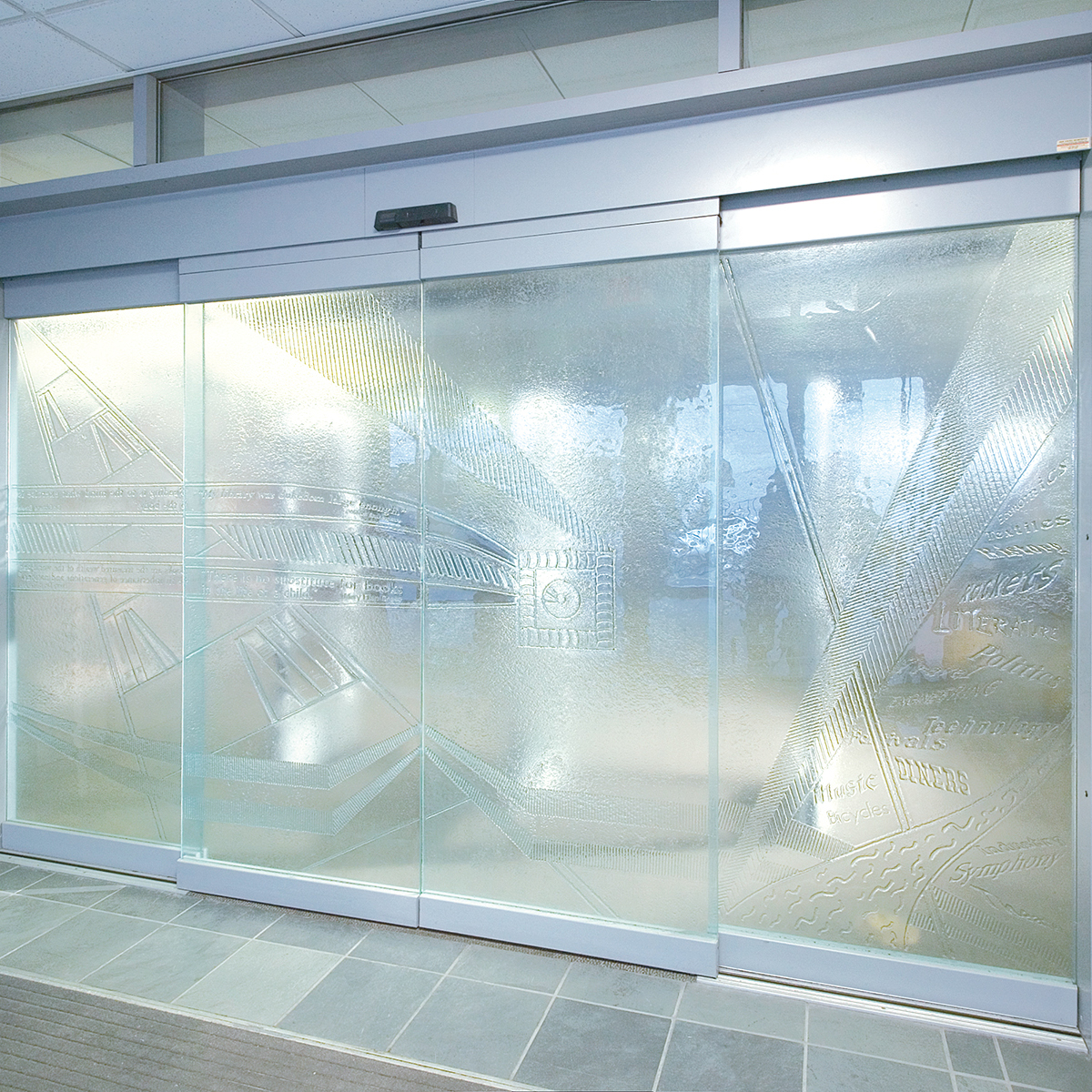 Esa 500 All Glass Partial Breakout Automatic Sliding Door