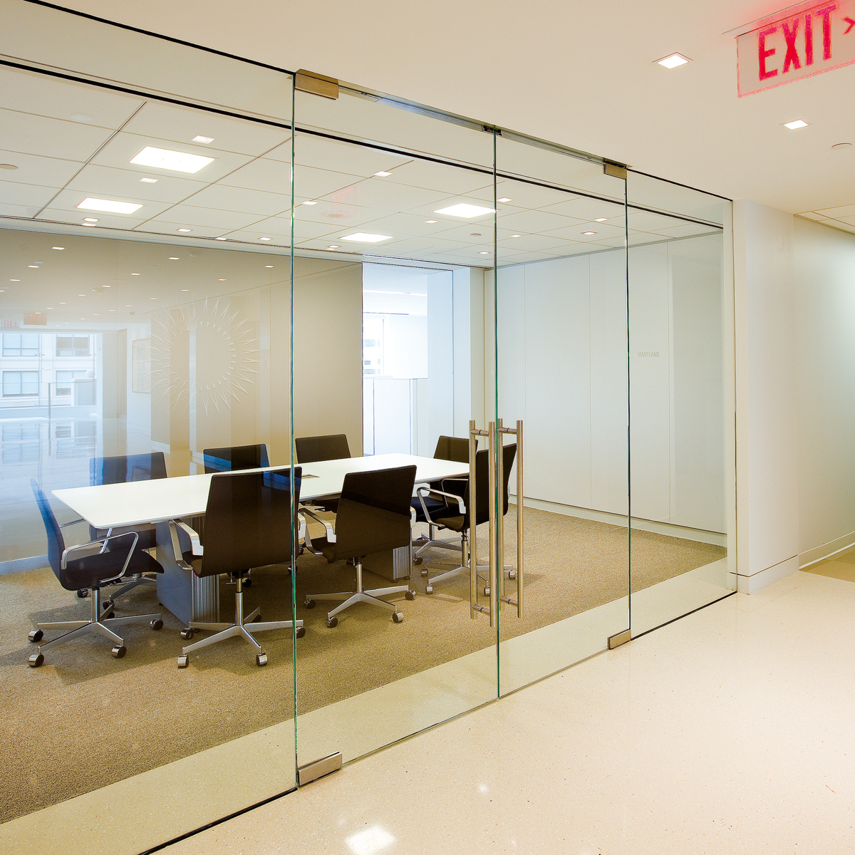 Dormakaba interior glass wall systems transparency and for Sliding glass wall systems