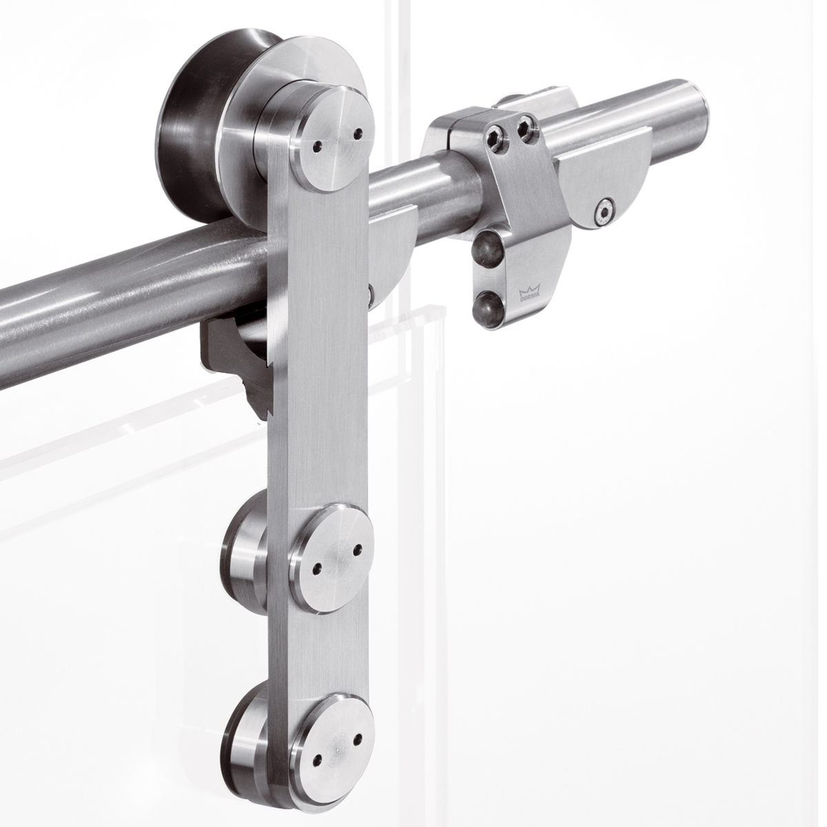 Dorma manet compact concept sliding door systems for Sliding door fittings