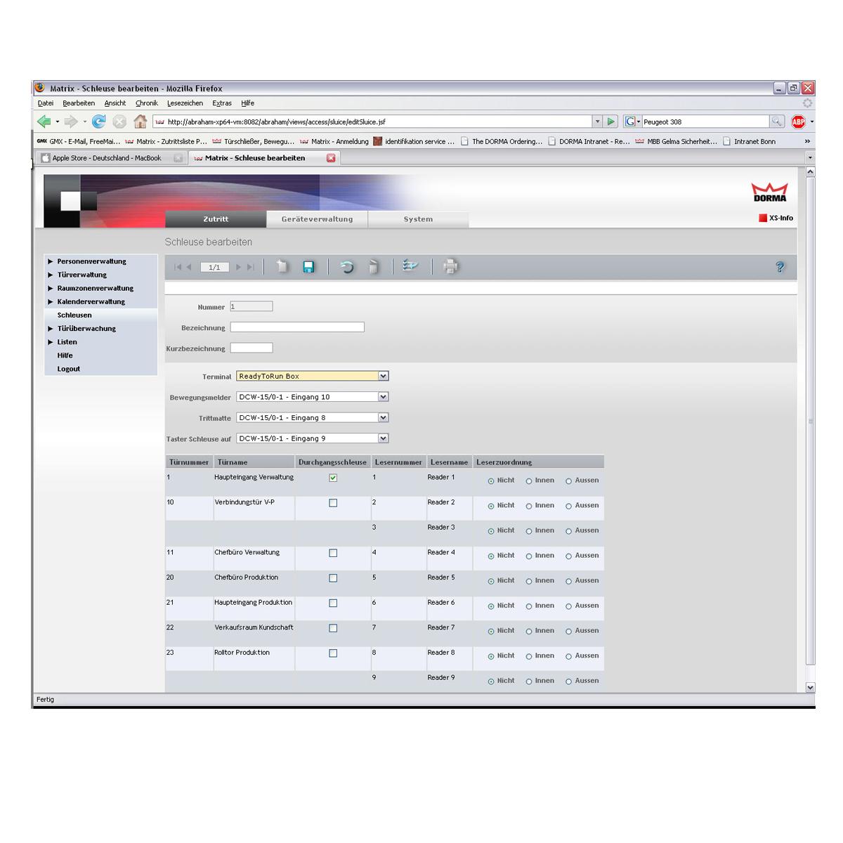 Dorma Matrix Professional Access Access Control System
