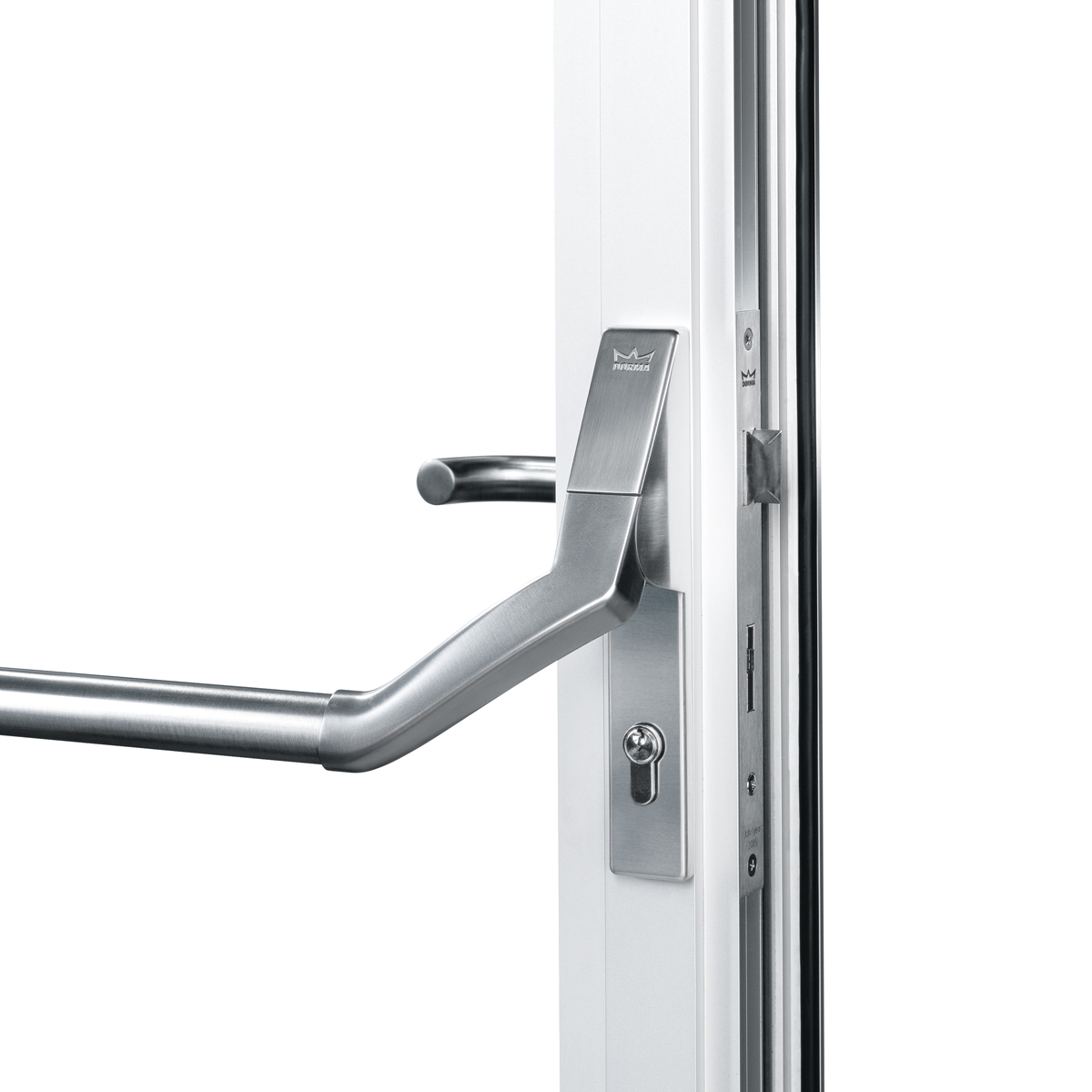 Panic Hardware For Glass Doors: DORMA PHA 2500 For Narrow Stile Doors