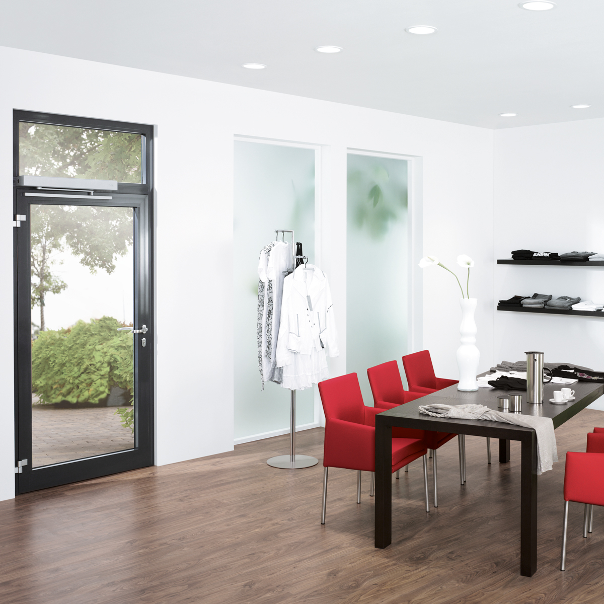 Dicas 100 Door Room Door: Automatic Framed Swing Door System