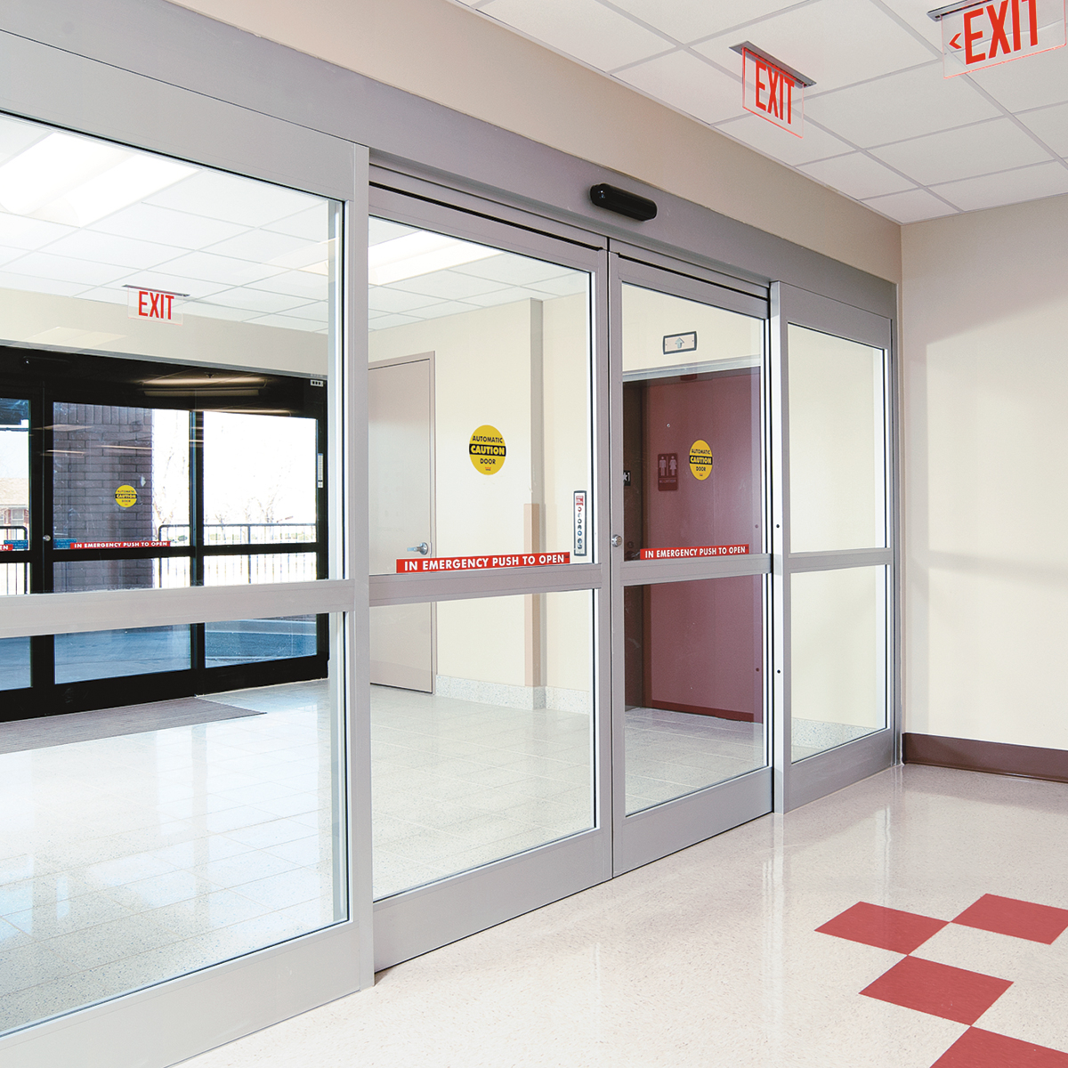 Automatic Sliding Glass Doors: DORMA ESA200 Commercial Fixed Sidelite Automatic Sliding Door