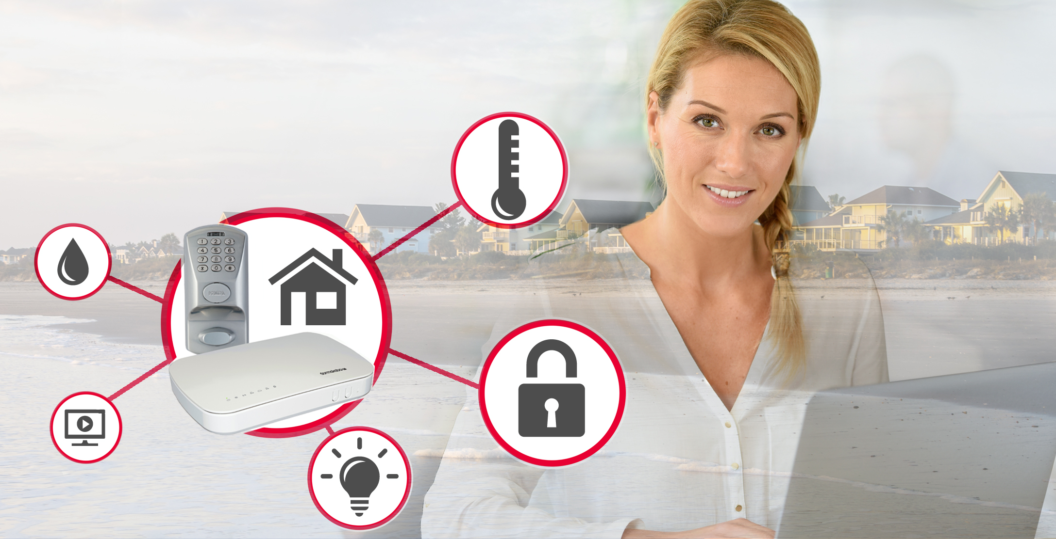 vacation rental property security system