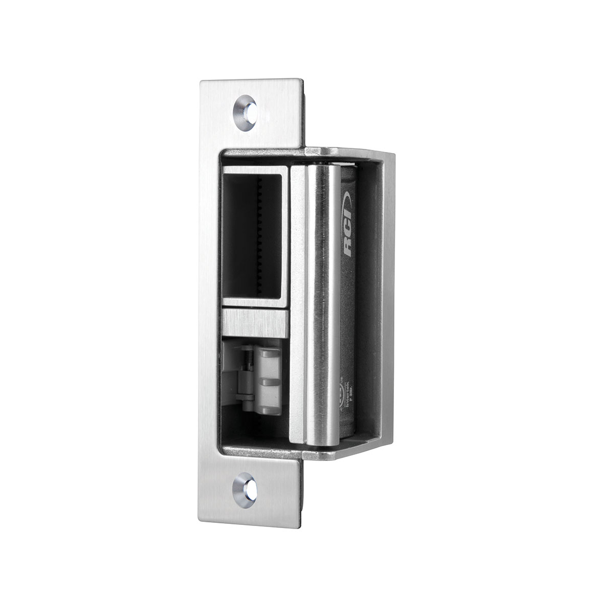 Brushed Stainless Steel Fail Secure RCI F2164-32D All-in-One Electric Strike Fire Rated Latch Entry