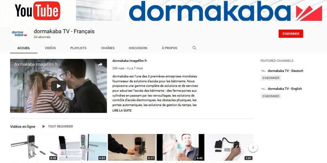 dormakaba TV YouTube