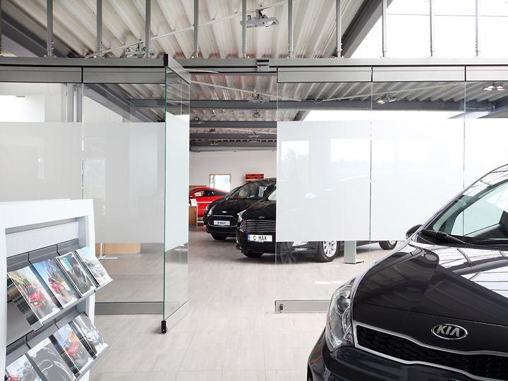 Abtrennung Autohaus Löffler
