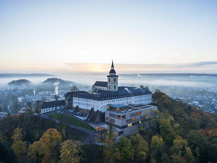 Abtei Michaelsberg Luftansicht